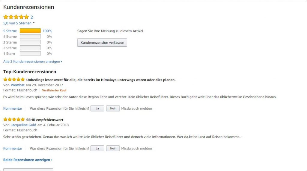 Rezensionen bei Amazon