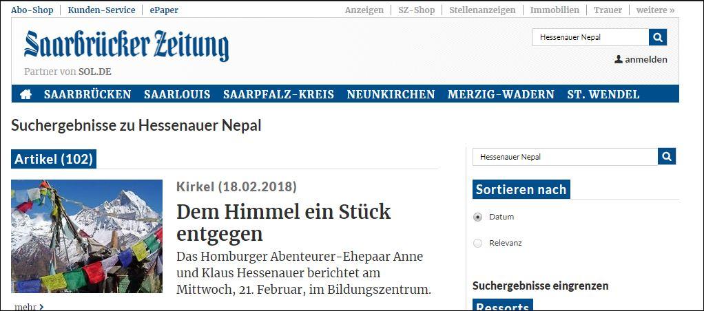 zur Saarbrücker Zeitung